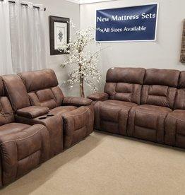 Dorado Walnut Power Sofa and Loveseat