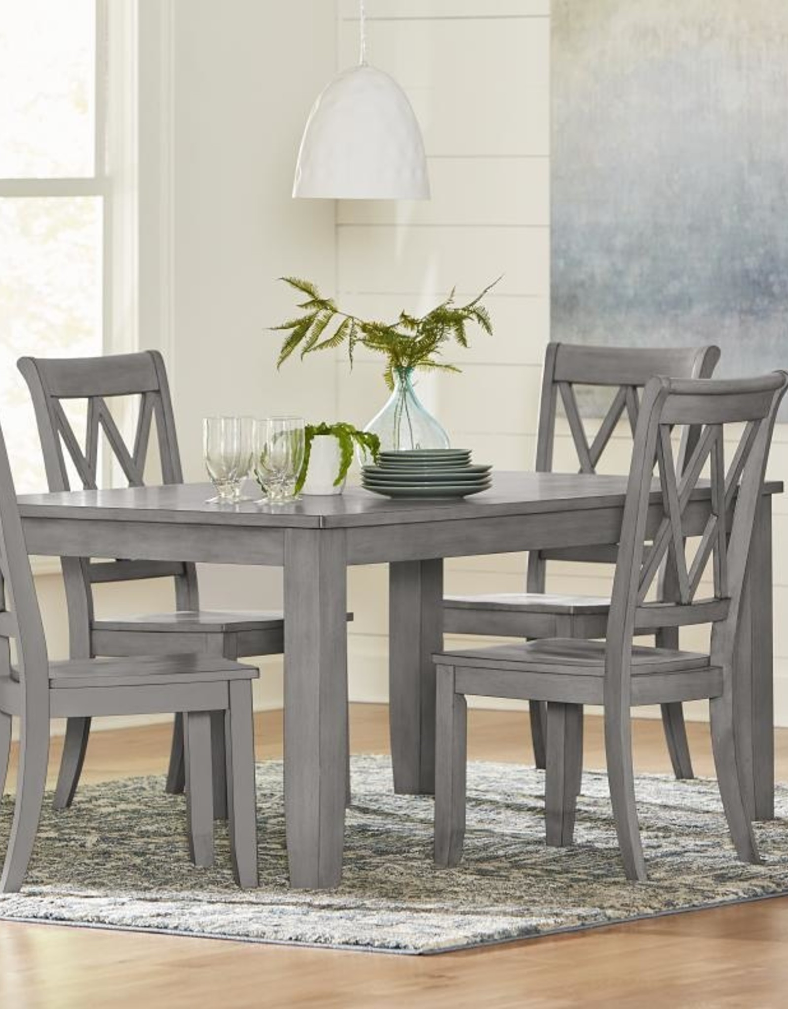 Standard Furniture Baldwin Grey Dining Table w/ 4 Chairs