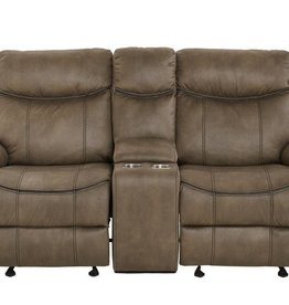 Standard Furniture Knoxville Mocha Brown Dual-Reclining Glider Love Seat