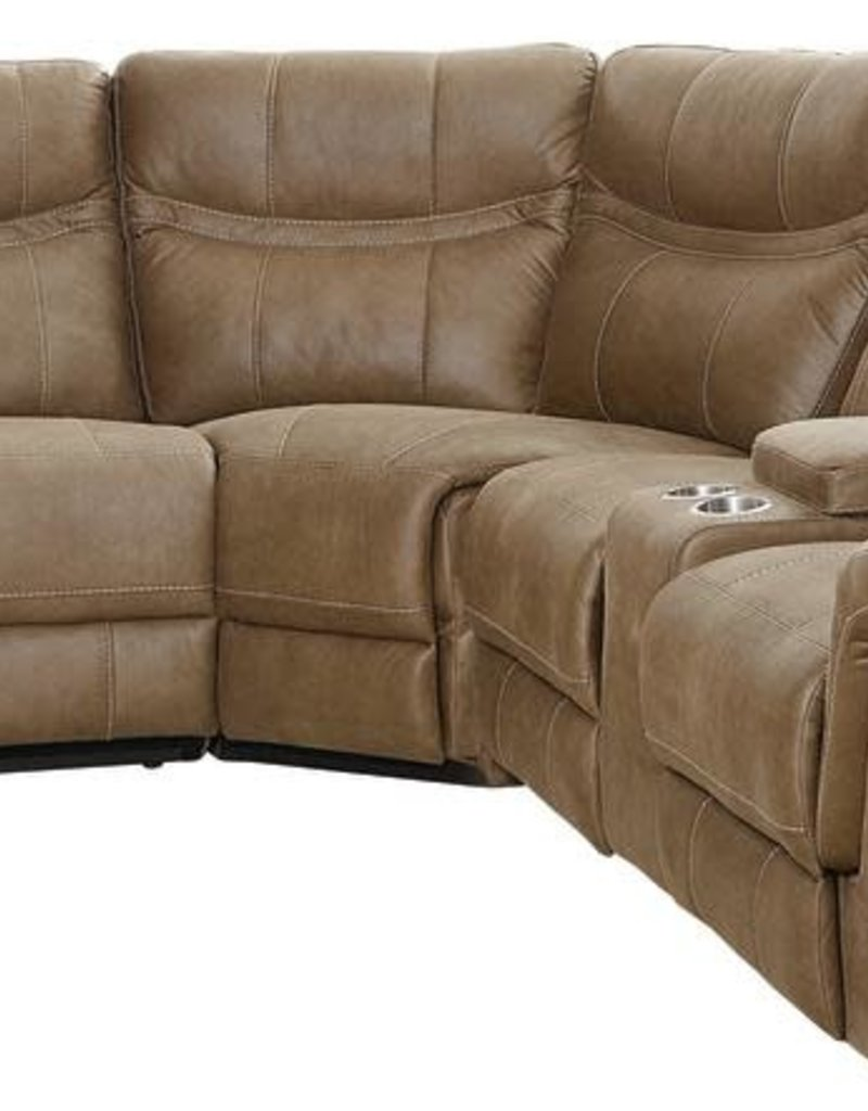 Standard Furniture Boardwalk Brown Reclining Sectional