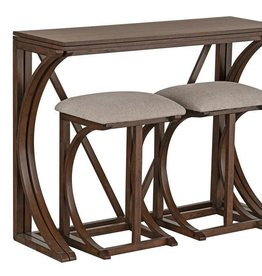 Standard Furniture Brentwood folding Bar w/ 2 Stools - Cherry