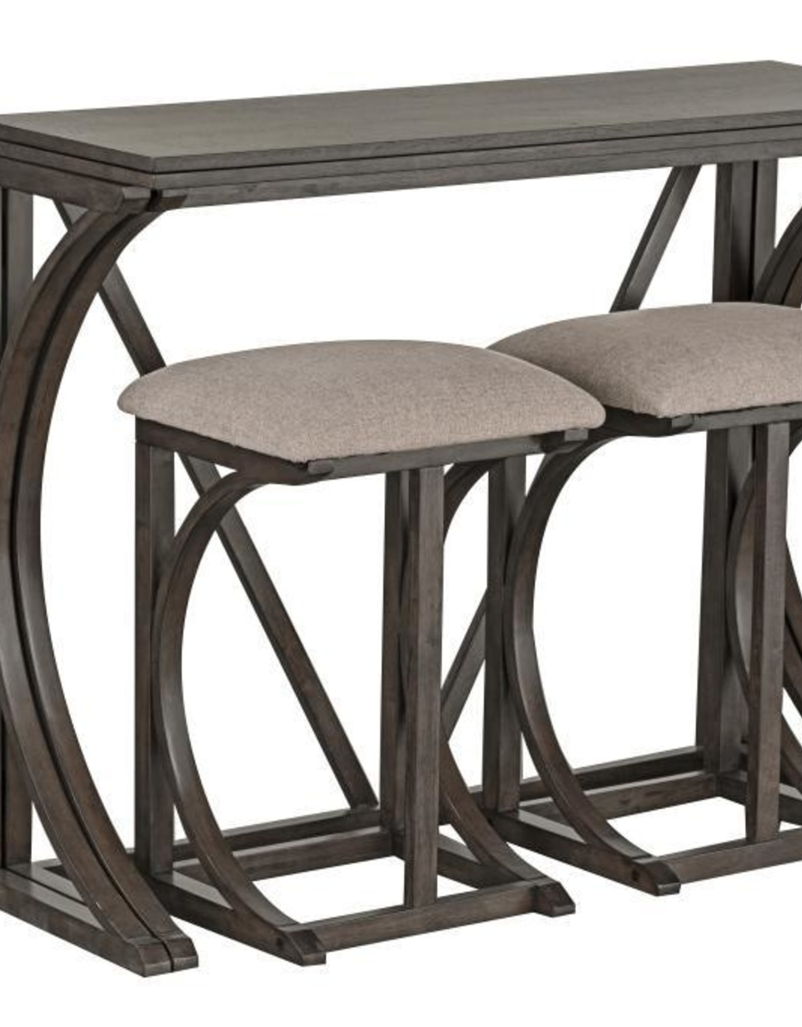 Brentwood Folding Bar W 2 Stools Antique Grey Bargain Box And Bunks
