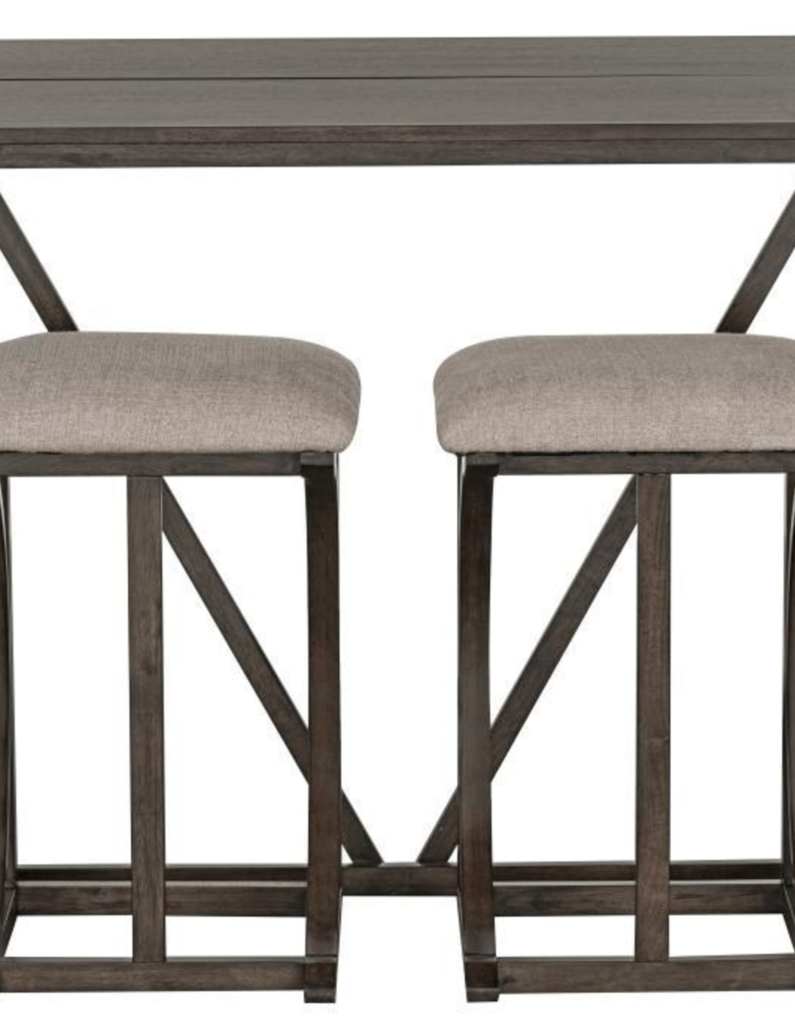 Standard Furniture Brentwood folding Bar w/ 2 Stools - Antique Grey