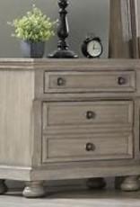Bernards Ashcott Grey Two Drawer Nightstand