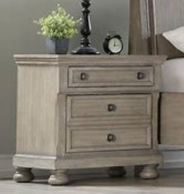 Bernards Ashcott Grey Two Drawer Nightstand