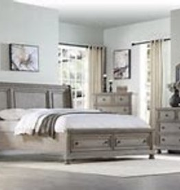 Bernards Ashcott Gray Queen Bedroom Set