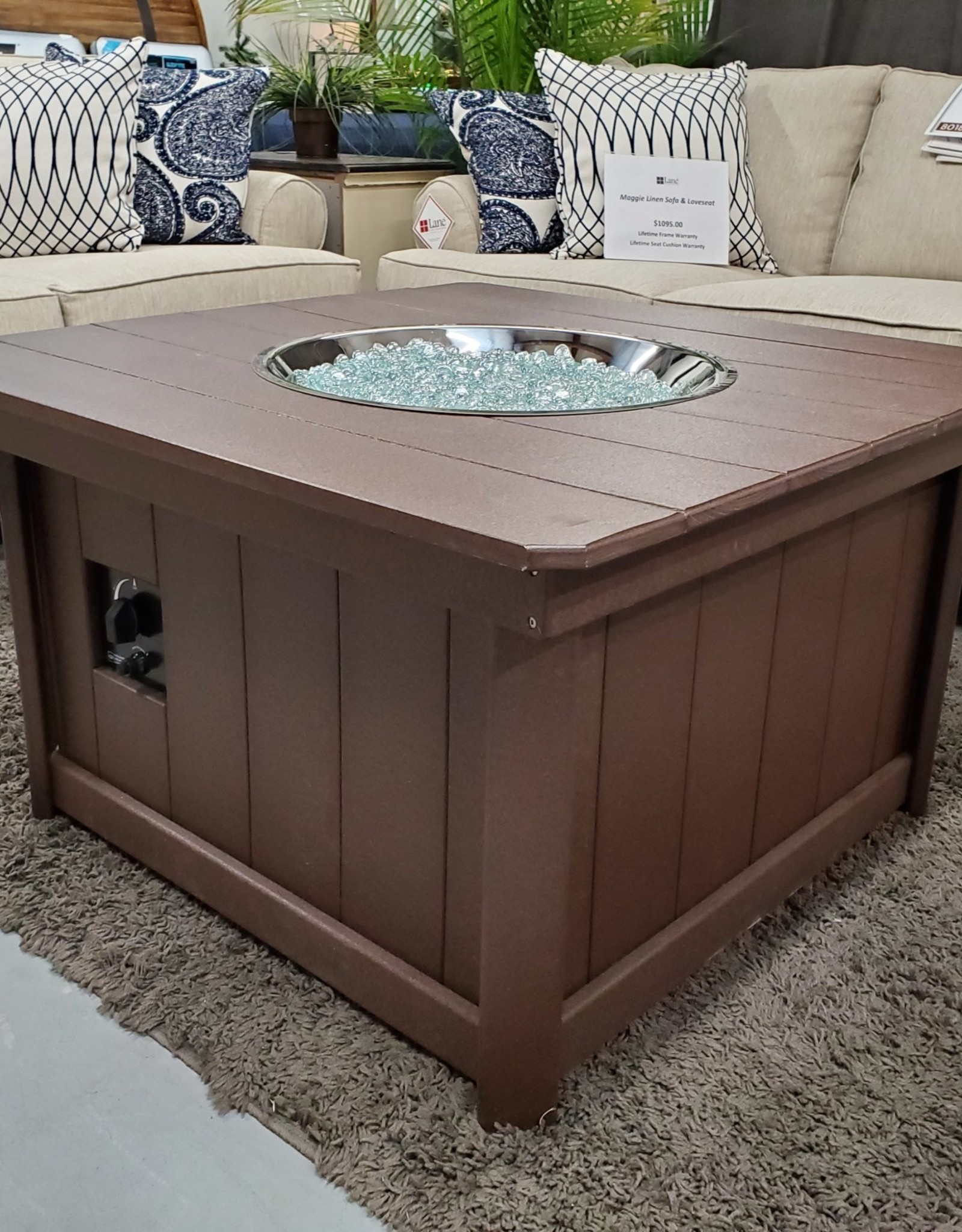 Home Decor Outdoor Enclosed Ground-Level Fire Pit