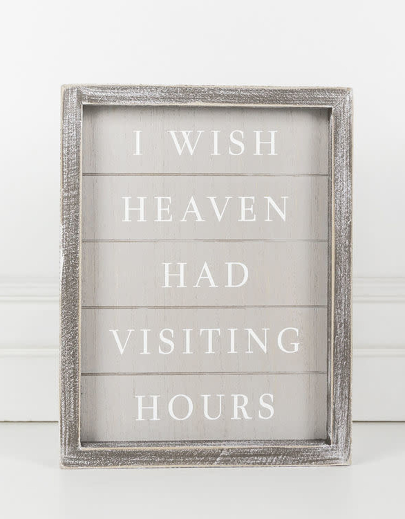 Adams & Co I wish Heaven Had Visiting Hrs - White and Gray