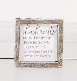 Adams & Co Husbands - Great with Secrets Sign