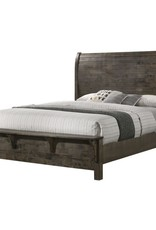 SouthCo Rustic Charm King Bed - Gray