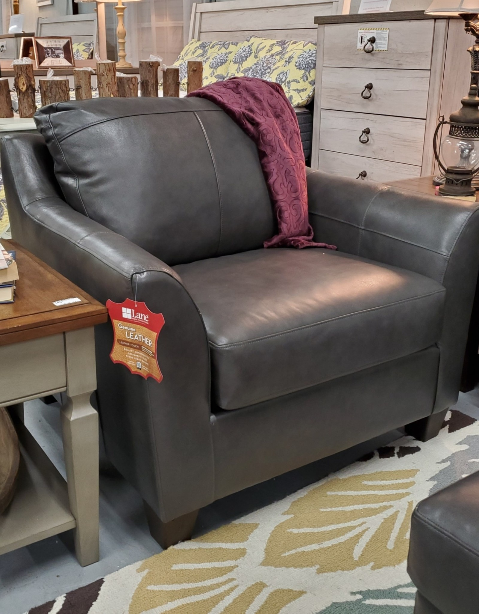 United Soft Touch Fog Leather Chair