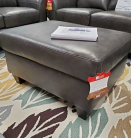 United Soft Touch Fog Leather Ottoman