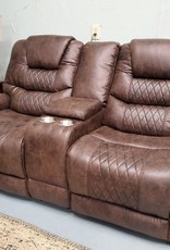 SouthCo Austin Chocolate Dual-Reclining Loveseat