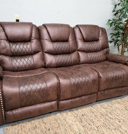 SouthCo Austin Chocolate Dual-Reclining Sofa - Manual Recline