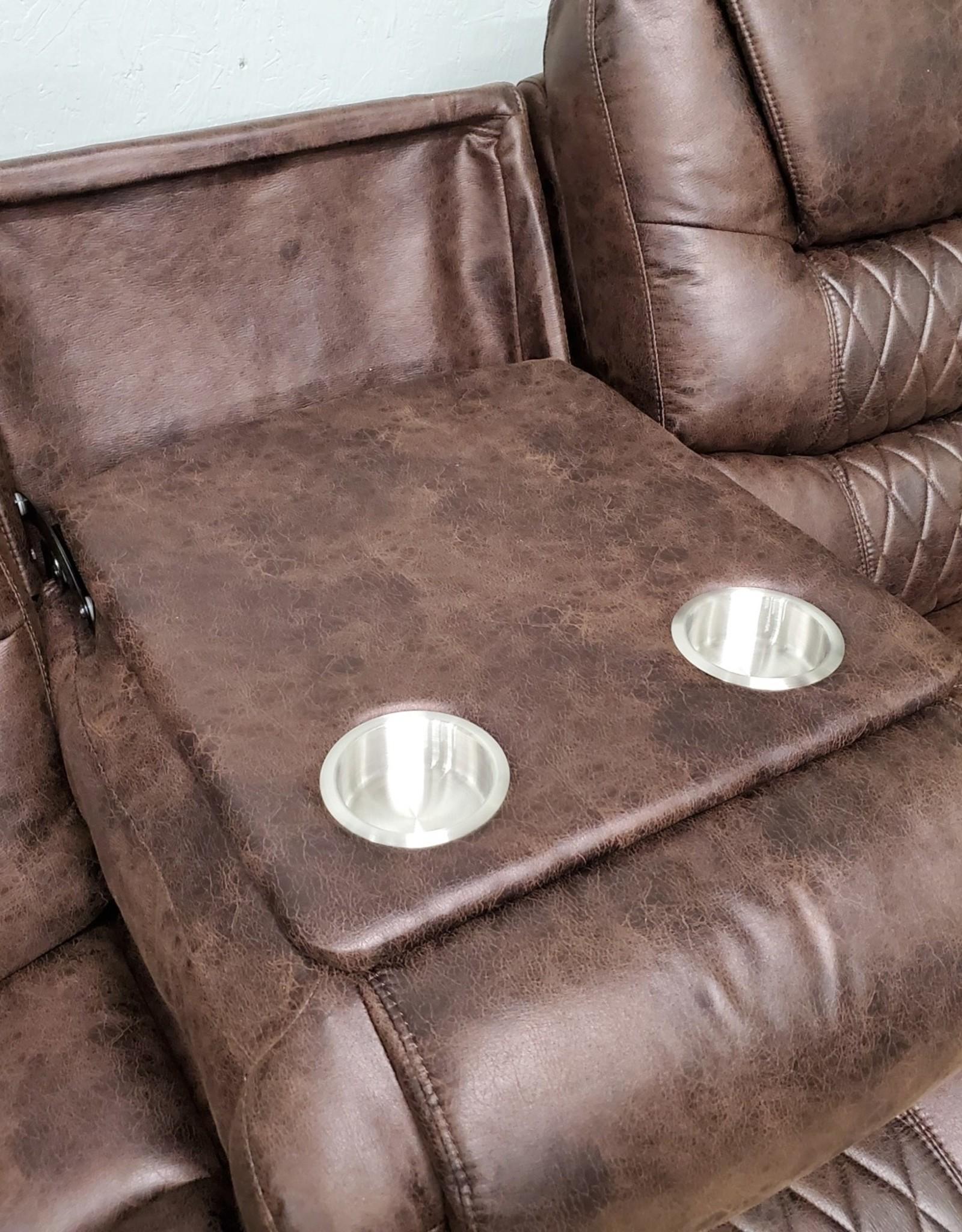 SouthCo Austin Chocolate Dual-Reclining Sofa - Manual Recline