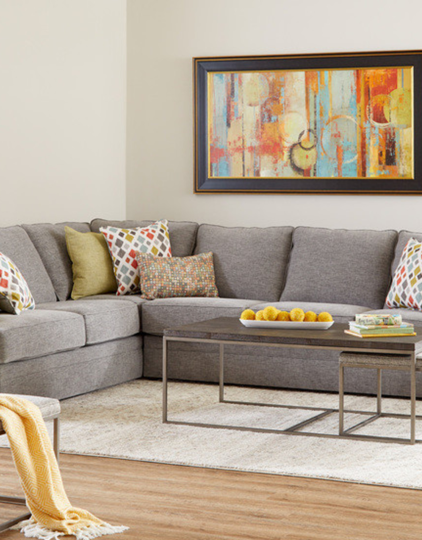United Marlow Pewter Sectional