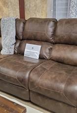 Standard Furniture Clayton Reclining Sofa, Brown-nailhead