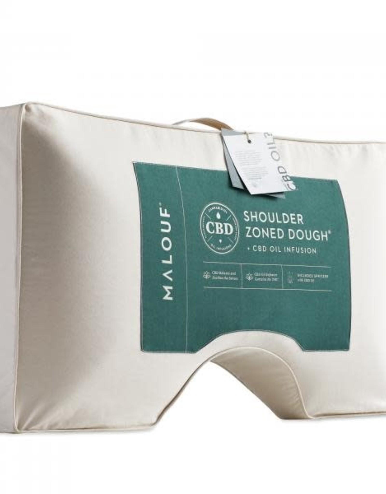 Malouf Z Shoulder Cutout Dough CBD Pillow - Mid Loft