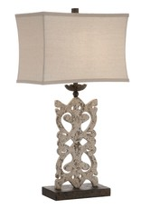 Crestview Mariposa Table Lamp w/ Oatmeal Linen Shade