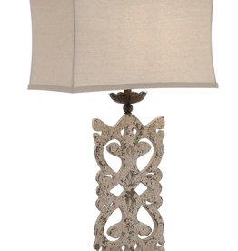 Crestview Mariposa Table Lamp w/ Oatmeal Linen Shade