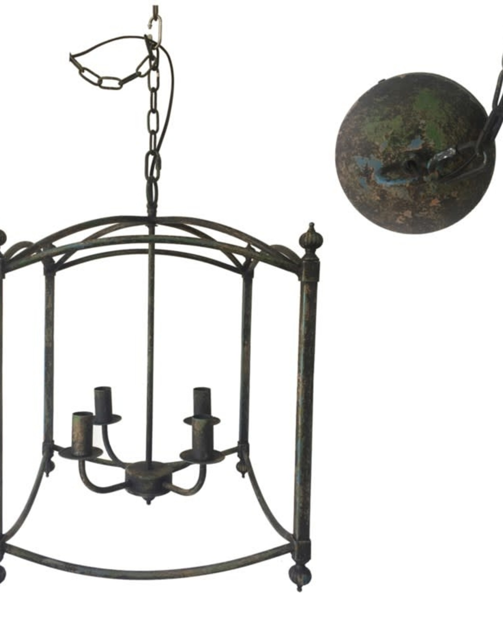 Crestview METAL CHANDELIER - Square 21.65