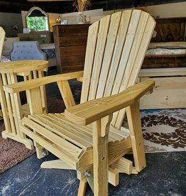 Fighting Creek Amish Adirondack Swivel Glider (Treated Lumber)