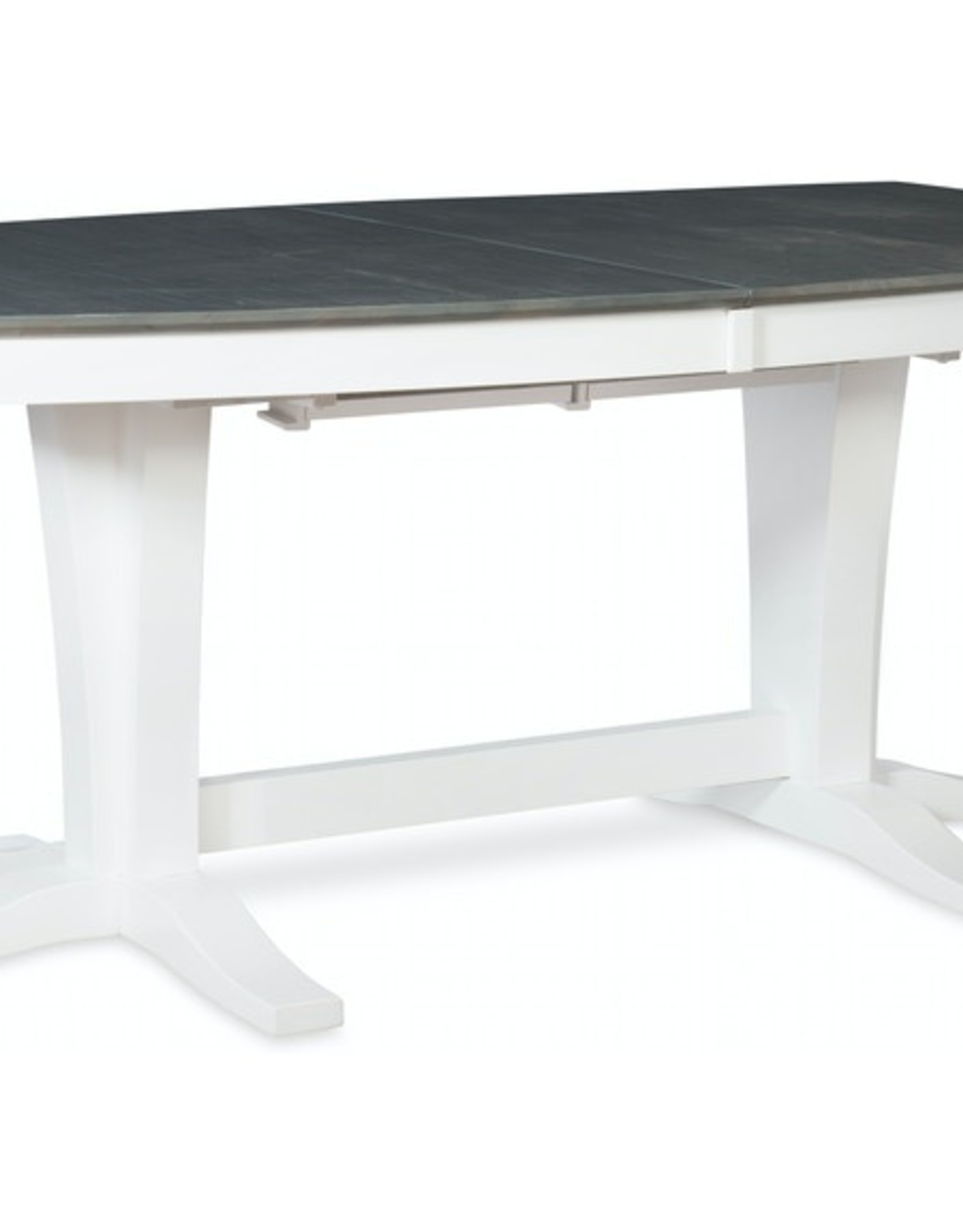 Whitewood Cosmopolitan Milano Table w/ Double Pedestal Base (Specify Color)