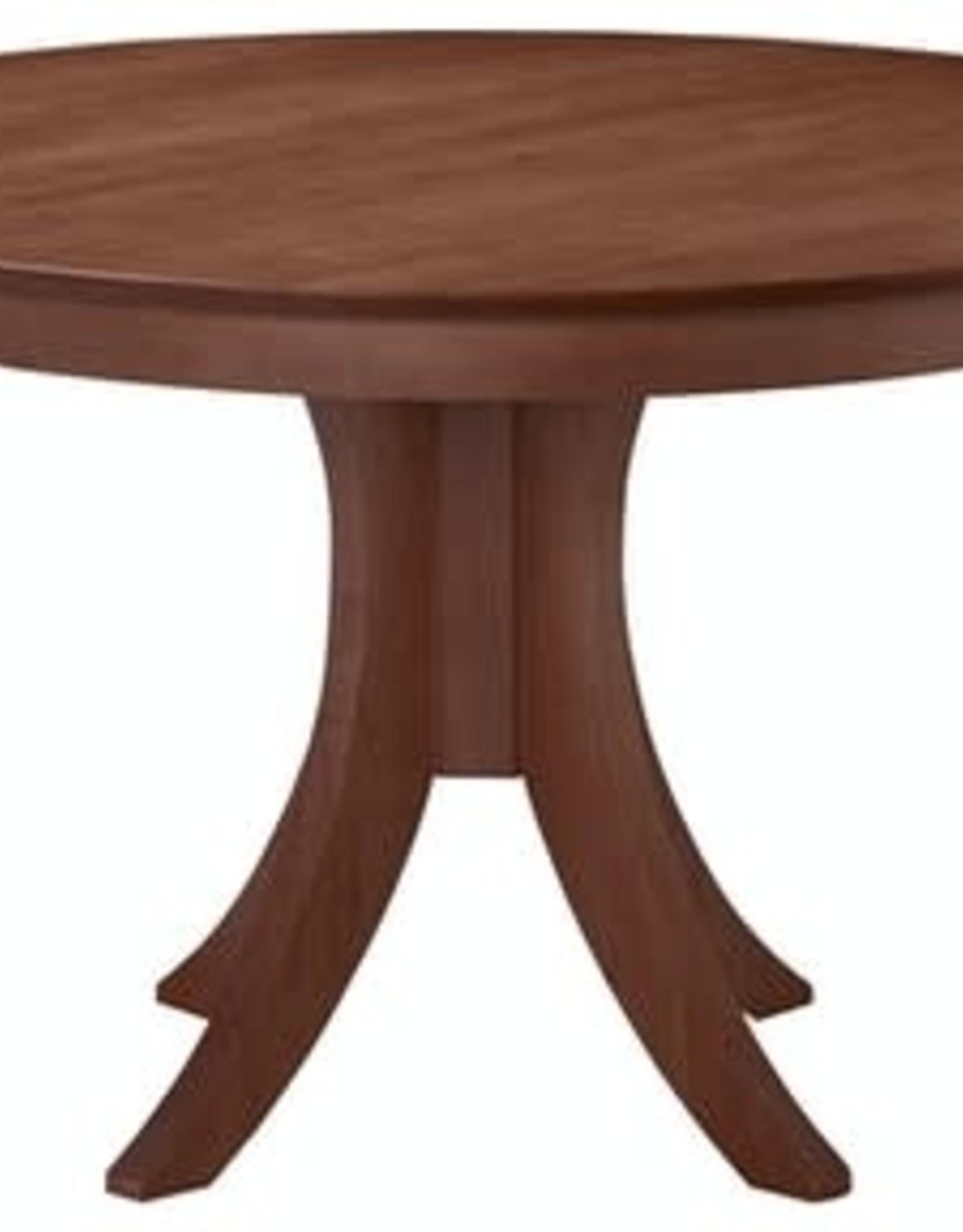 """Whitewood Cosmopolitan 48"""" Round Table w/ Flair Base - Specify Height"""