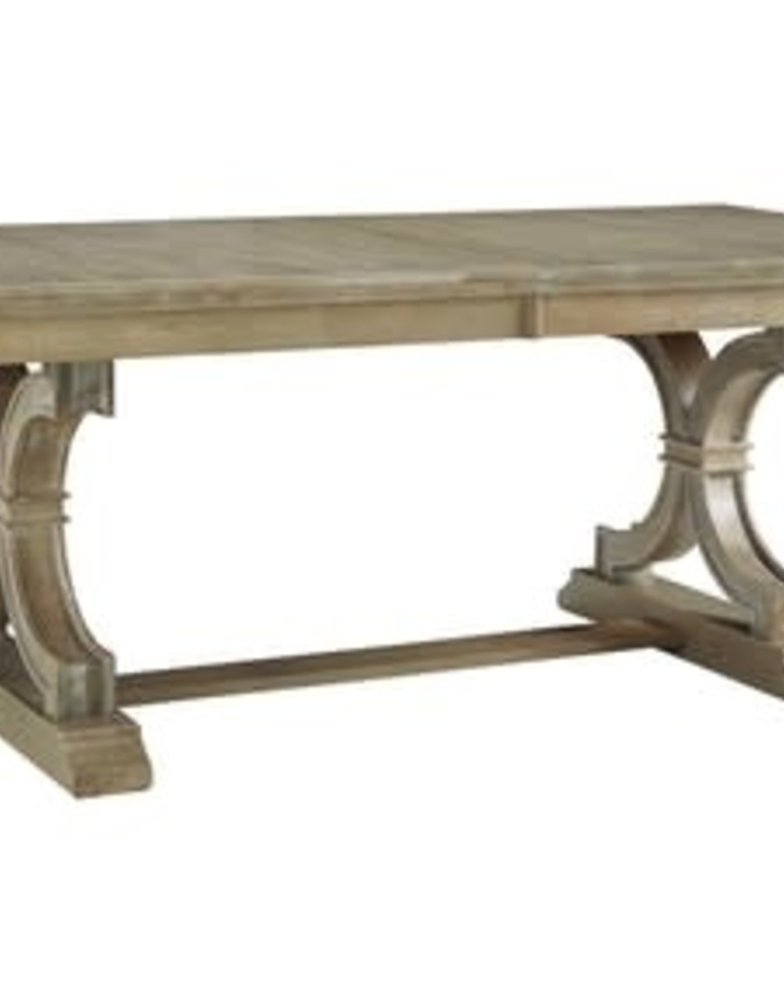 Whitewood Cosmopolitan Sonoma Double-Pedestal Table (Specify 1 of 4 Color)
