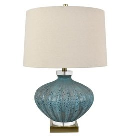 """Crestview Reeves Crystal Table Lamp 29"""" tall (turquoise)"""