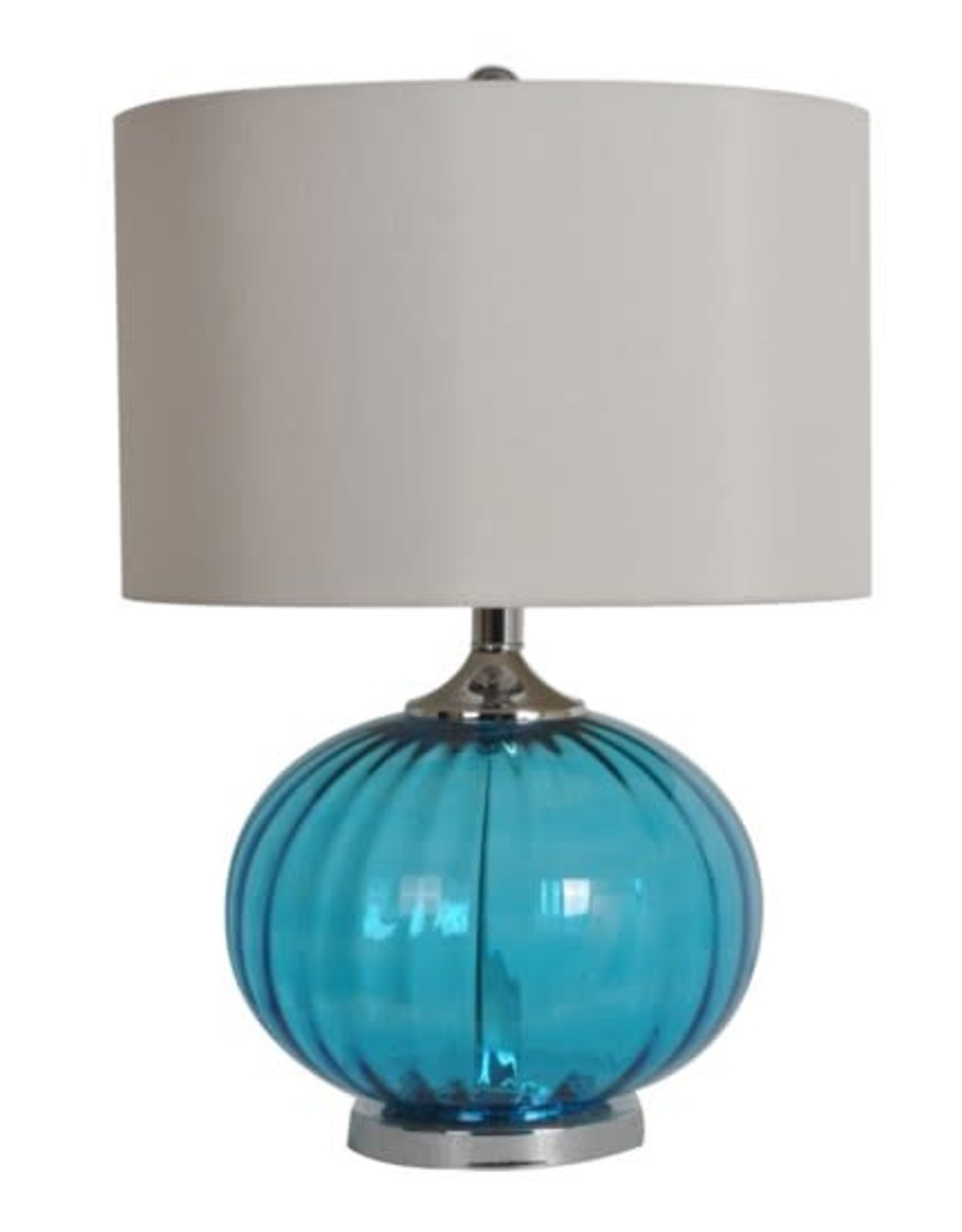 "Crestview New Port Table Lamp 22"" tall (aqua)"