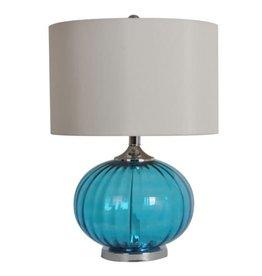 "Crestview New Port Table Lamp 22"" tall (aqua)"