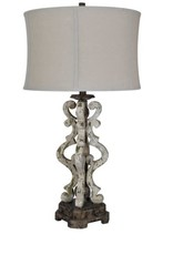Crestview Mariposa Corner Table Lamp