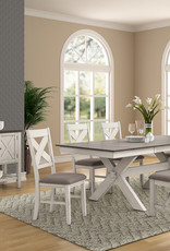 Bernards Homestead Casual Dining Table w/ Pull-out Leaf inserts