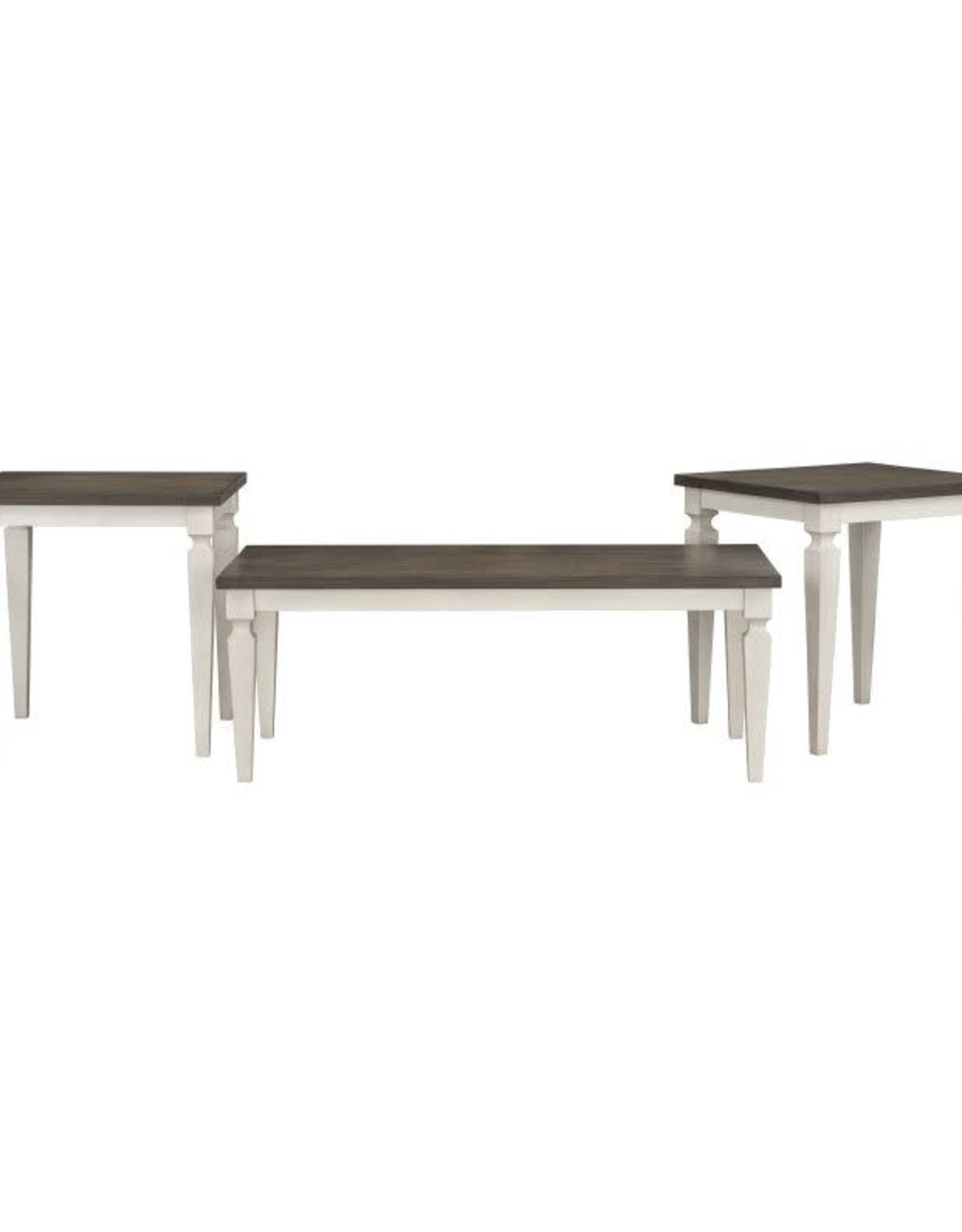 Standard Furniture Grand Bay White / Gray Coffee and matching end table set