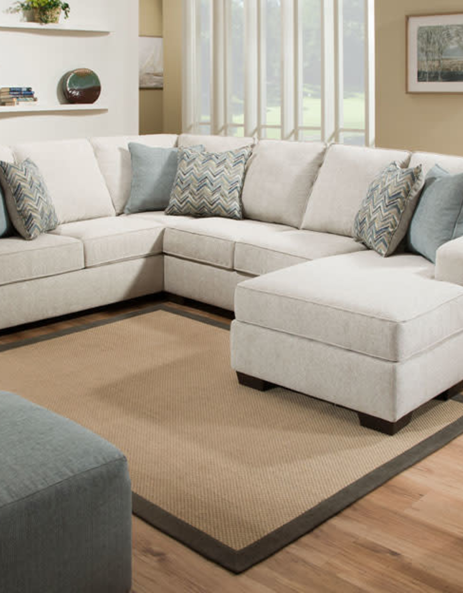 United Endurance Grain Sectional W/ Right Chaise