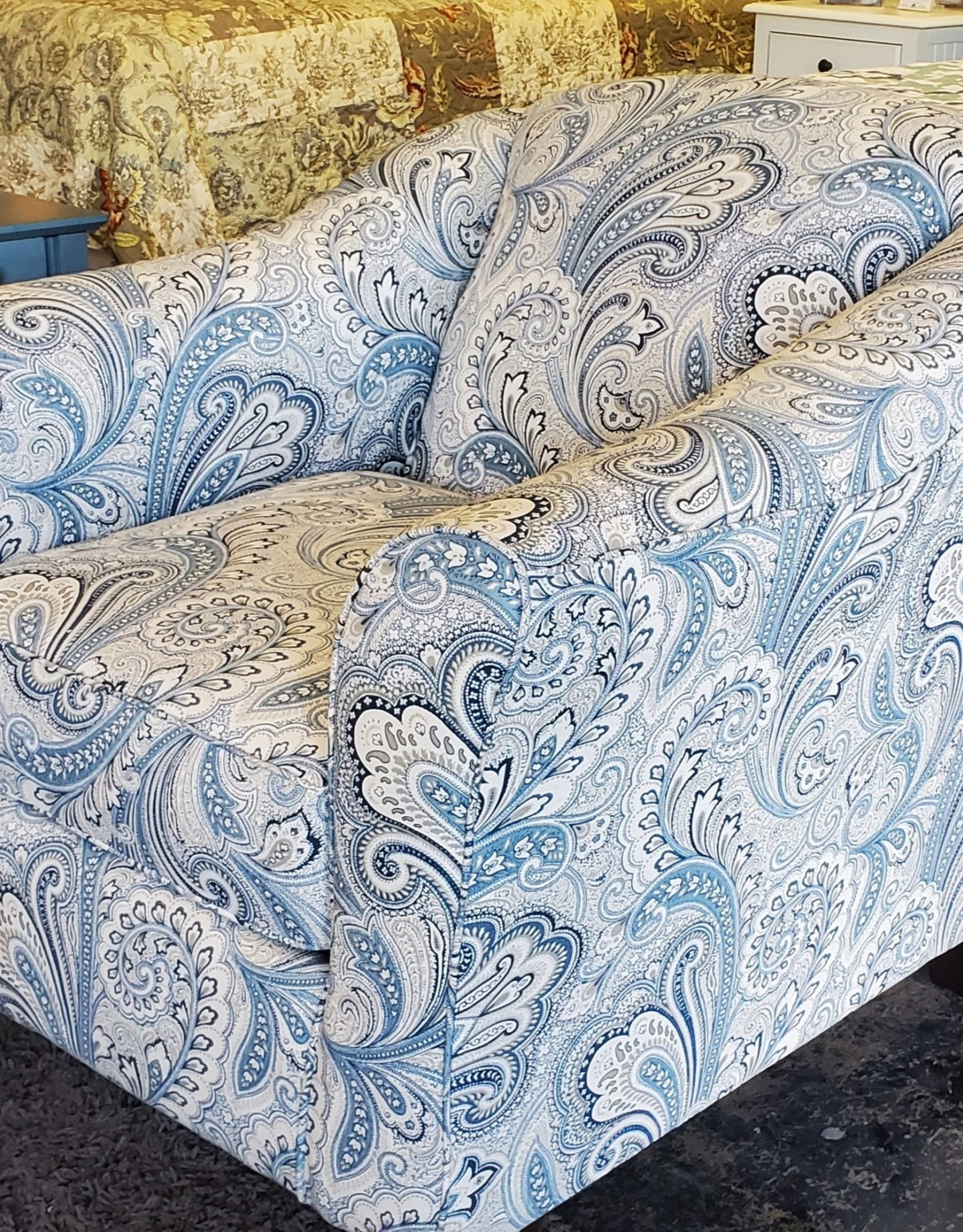 SouthCo Lyla Dove Accent Chair - Barilla Denim