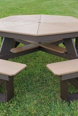 Home Decor Outdoor Octagon Maintenance-Free Picnic Table