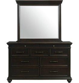 SouthCo Slater Dresser w/ Mirror - Black