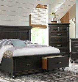 SouthCo Slater Bedroom - Black w/ Distressing