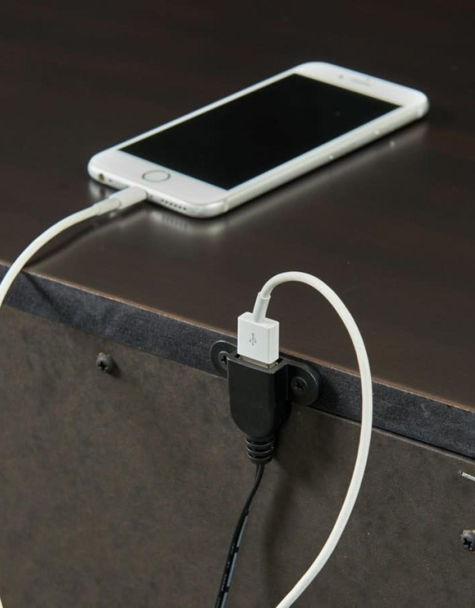 SouthCo Slater Nightstand w/ USB Charging Port - Black