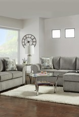 SouthCo Marcey Nickel Gray Sofa w/ Chaise Chofa
