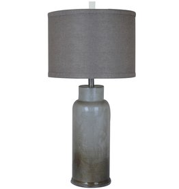 Crestview Rossi Brown/Gray Glass Table Lamp