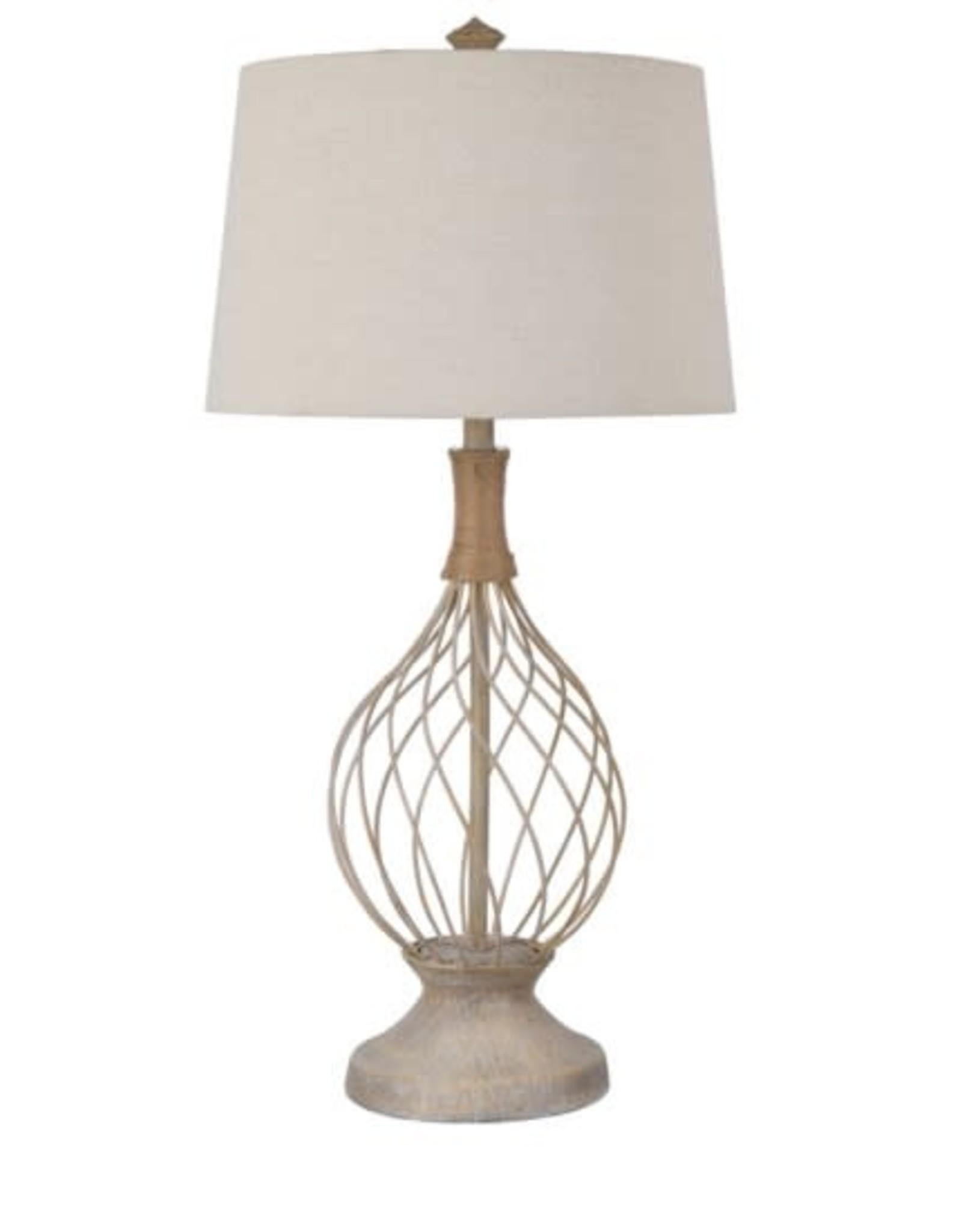 Crestview Belle Rive Jute & Wire Teardrop Lamp