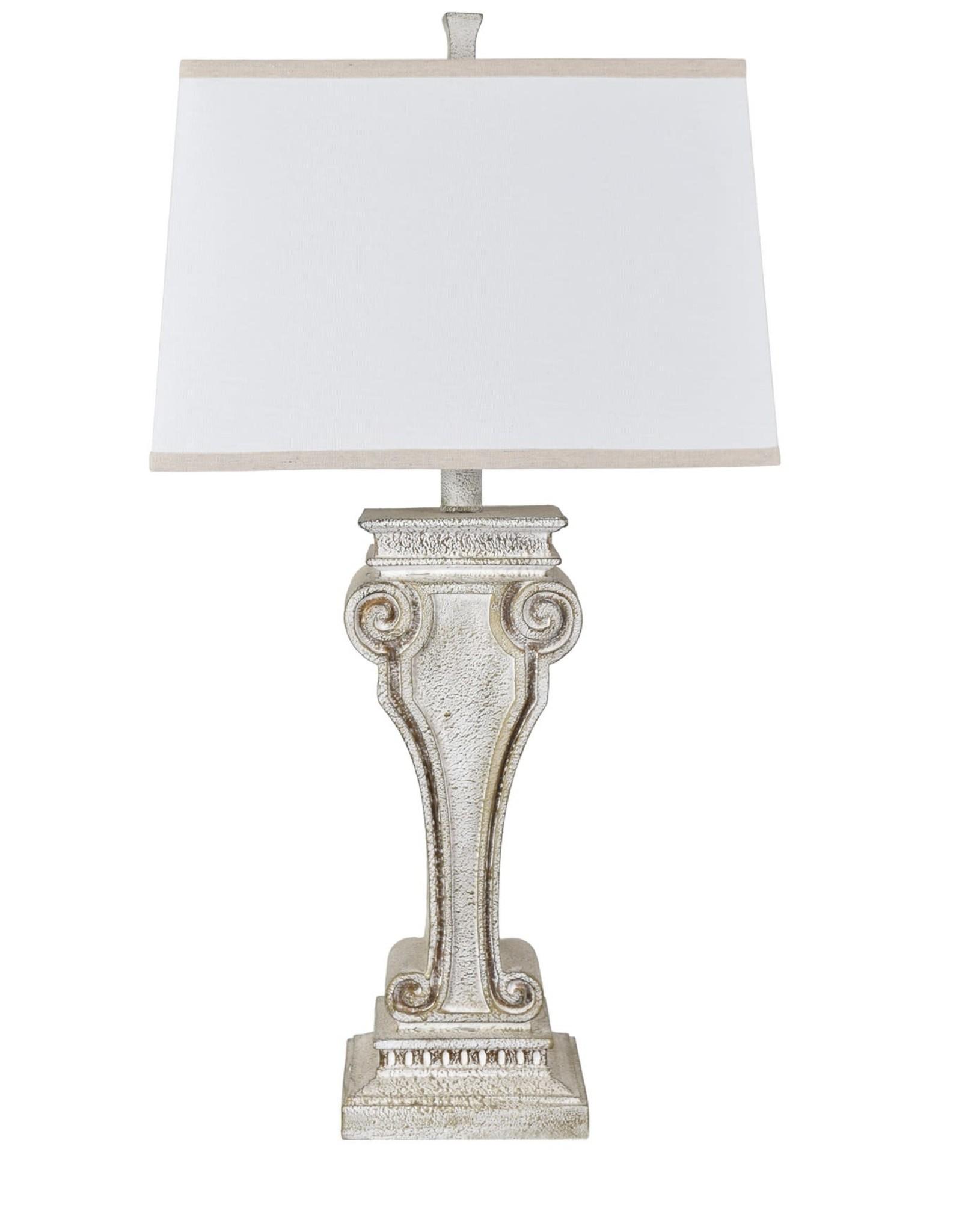 Crestview Carnegie Resin Table Lamp 33.5' tall
