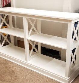 """Whitewood Hampton 60"""" Sofa Table w/ Shelves - White"""