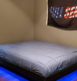 Bargain Bunks Floating Platform Bed w/ Lights