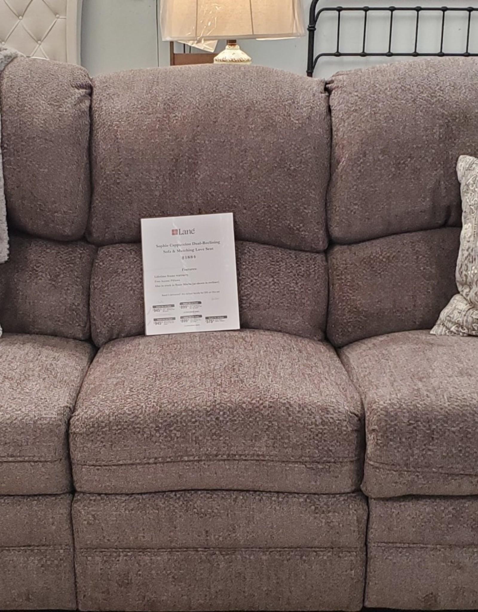 Lane Rosie Mocha Dual- Reclining Sofa (No power)