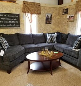 United Albany Slate Sectional w/ Wedge Bubble Ink