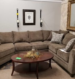 United Albany Truffle Sectional w/ Wedge